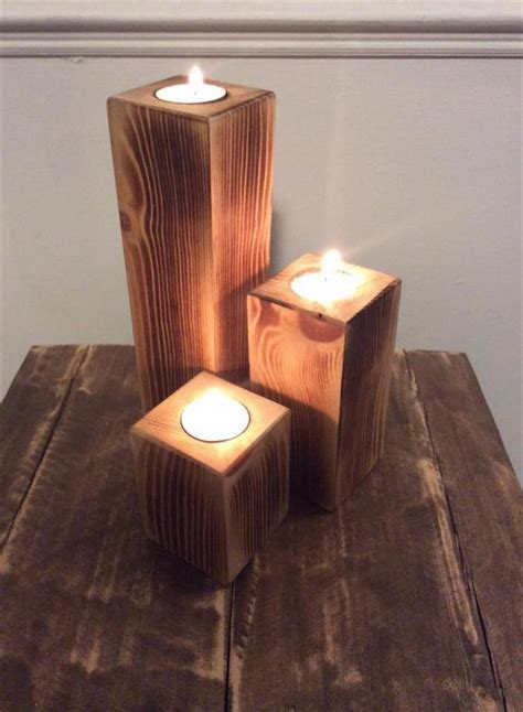 Candles For Candlestick Holders Pallet Wood Candle Holders Pallet Wood Projects