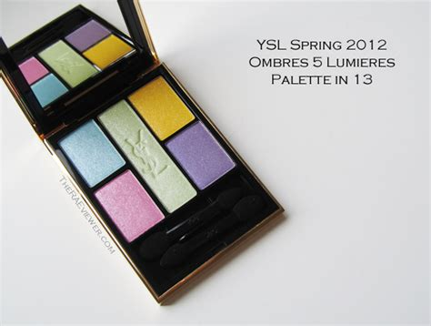 Eyeshadow Ysl the raeviewer a about luxury and high end cosmetics ysl no 13 ombres 5 lumieres