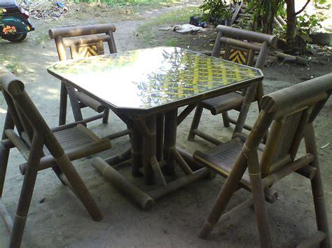 Meja Kursi Tamu Bambu kursi bambu eki aneka perabot bambu