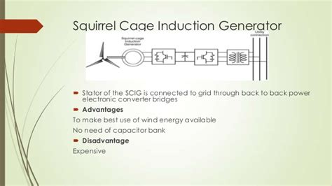 squirrel cage induction generator operation wind turbine generators
