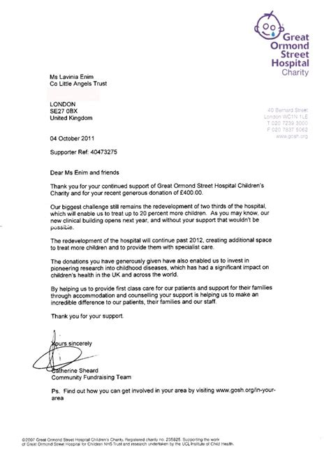 charity letter for hospital charity appeal letter direct mail fundraising sles from