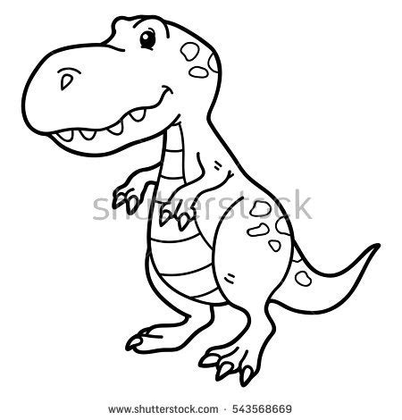 cartoon t rex coloring page drawn tyrannosaurus rex cartoon pencil and in color