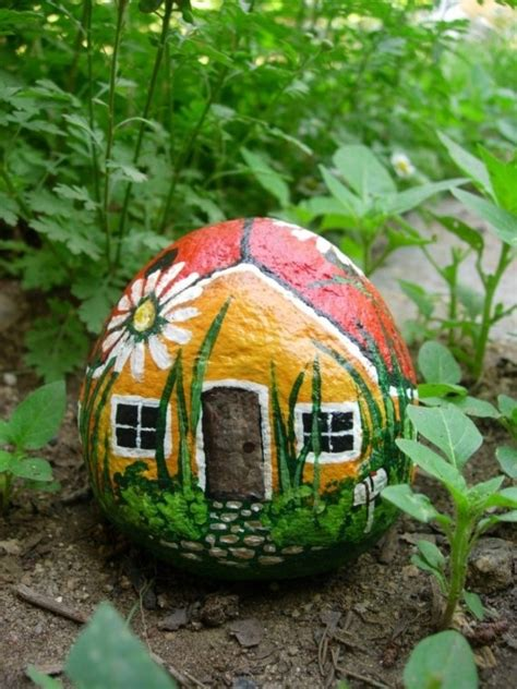 Mushroom Home Decor by Rock Painting Diy 1 Home Design Garden Amp Architecture