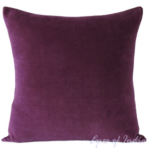 large couch pillow 24 quot large purple velvet decorative couch pillow cushion