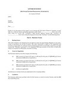 Letter Of Intent Exle Purchase Business Letter Of Intent To Purchase Free Printable Documents