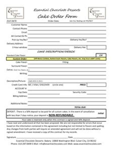 Cake Order Form Template Free Download Google Search Projects To Try Pinterest Order Dessert Order Form Template