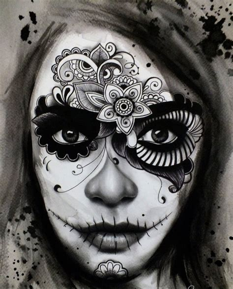 day of the dead face tattoos day of the dead tattoos designs ideas and meaning