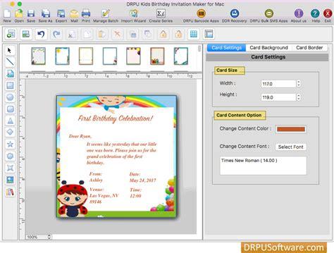 free invitation maker software for mac free birthday invitation card maker software