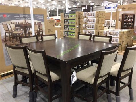 costco counter height dining table pulaski furniture 9pc counter height dining set costcochaser