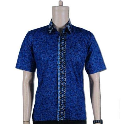 Kemeja Batik Excellent Katun Biru kemeja batik ekslusif warna biru pusaka dunia