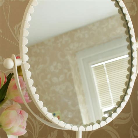 cream oval metal vanity mirror shabby french chic home cream oval metal vanity mirror shabby french chic home