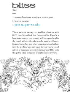 coloring pages bliss facebook bliss love coloring book your passport to calm dover