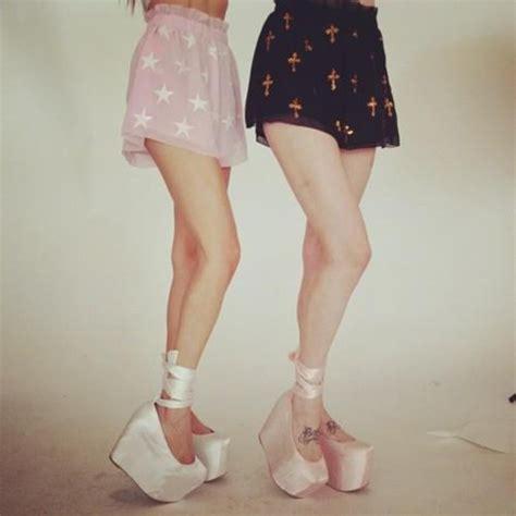 wildfox x jeffrey cbell ballet platform shoes satin