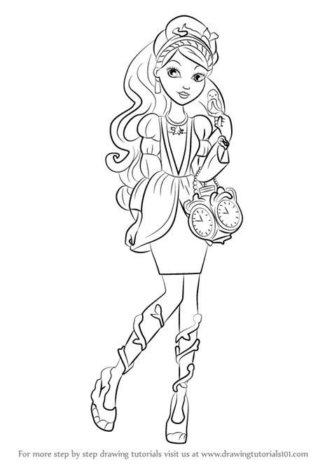 ever after high coloring pages ashlynn ella learn how to draw ashlynn ella from ever after high ever