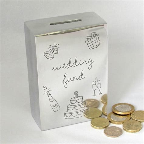 wedding money wedding fund savings money box by chapel cards