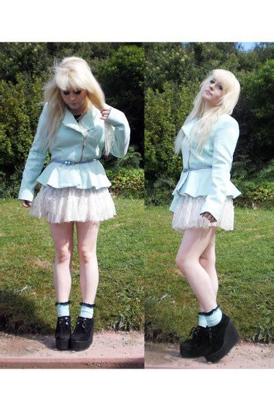 light blue mint peplum primark jackets light blue diy