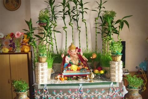 ganpati decoration ideas at home with theme ganpati ganesh chaturthi decoration ideas for home