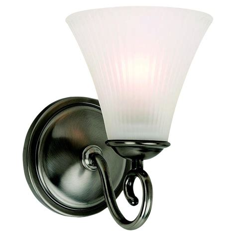 Sea Glass Light Fixture Sea Gull Lighting Joliet 1 Light Antique Brushed Nickel Bath Light Fixture With Clear Outside