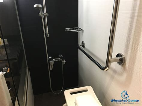 Bathroom Shower Controls Review Madrid Marriott Auditorium Hotel Wheelchairtravel Org