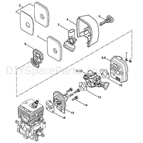 stihl bg 85 parts diagram stihl bg 86 blower bg86 parts diagram air filter