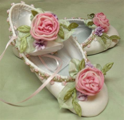 ballet flower shoes flower ballet shoes ribbon work flowers by