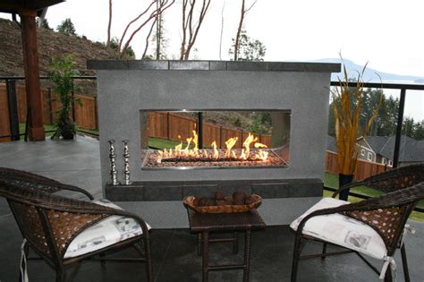 outdoor fireplace modern see thru fireplace modern pits vancouver by
