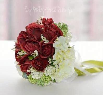 Buket Bunga Mawar Palsu 10 Kuntum lynlynshop baju pesta butik indonesia