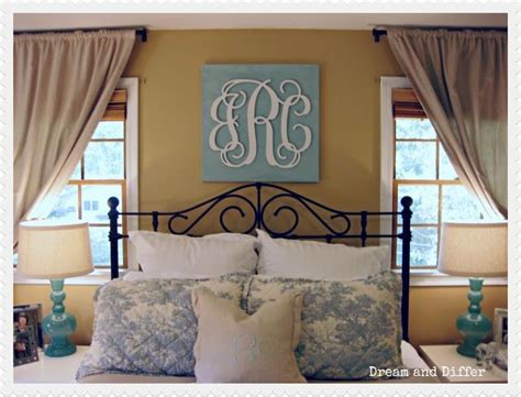 monogram decorations for bedroom wooden monogram over bed for the home pinterest wall