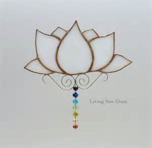 Lotus Flower Chakra Lotus Flower With Chakra Colours Stained Glass By Livingsunglass
