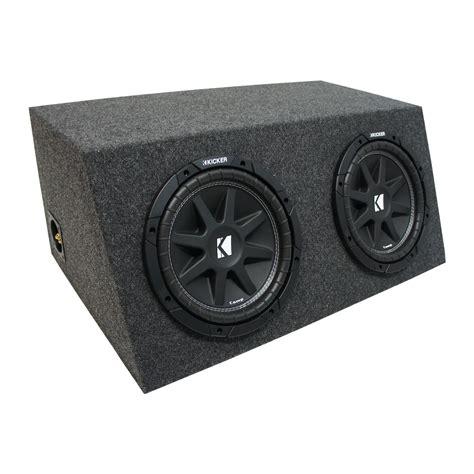 Kicker Sz 39 43 universal car stereo hatchback sealed dual 10 quot kicker comp c10 sub box enclosure 2 ohm