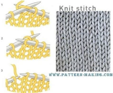 knit vs purl purl stitch and knit stitch pattern