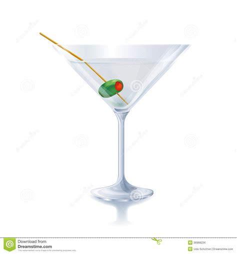 glass with olive cocktail glass with olive stock images image 36968234