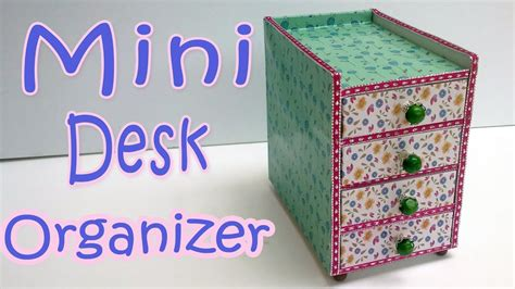 diy crafts how to make a mini desk organizer diy crafts