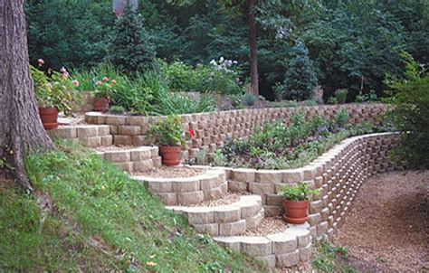 Keystone Retaining Garden Wall Jpg Landscape On A Slope Retaining Wall Garden Ideas
