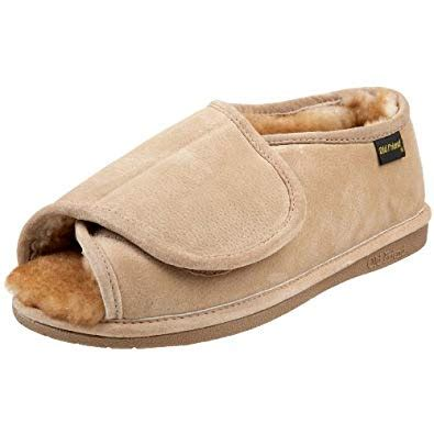 mens open toe slippers friend s step in open toe slipper