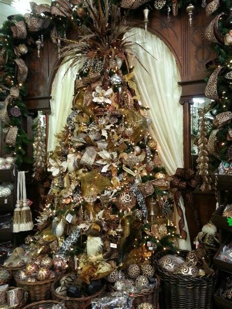 gold and brown christmas tree christmas spirit pinterest