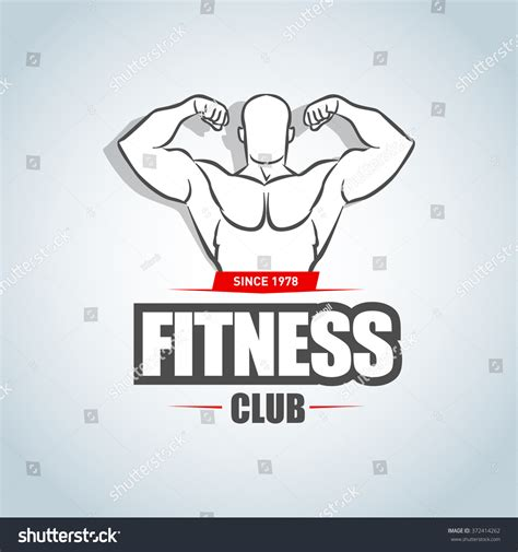 Fitness Logo Template Gym Club Logotype Stock Vector 372414262 Shutterstock Fitness Logo Design Templates