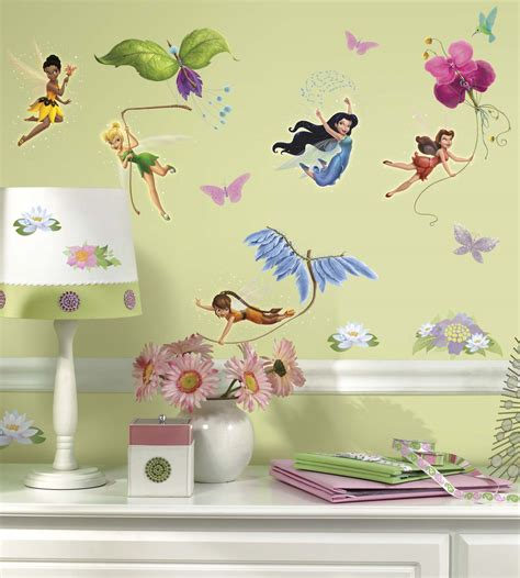 fairies wall stickers disney fairies with tinkerbell wall decals wall2wall