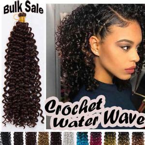 "100% Natural Water Wave Crochet Braids 15"" Long Deep Curly"