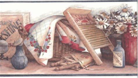 laundry room wallpaper border wallpaper border vintage laundry room wash board ebay