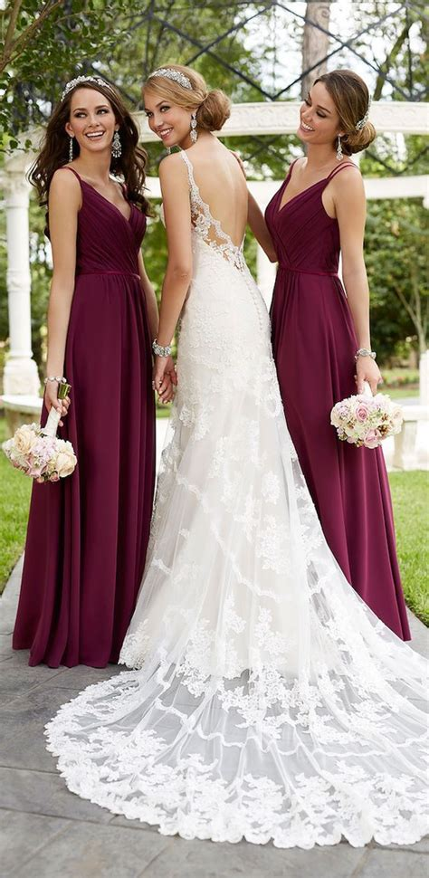 wedding dresses maroon colour 20 best ideas about maroon bridesmaid dresses on