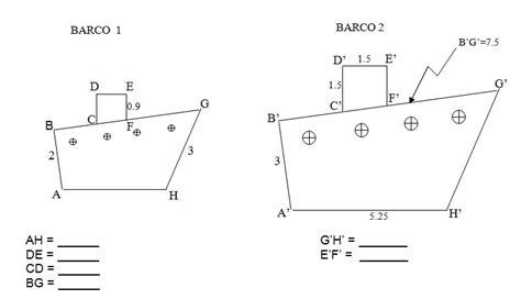 imagenes de barcos con figuras geometricas dadas las siguintes figuras barco 1 y barco 2 que estan