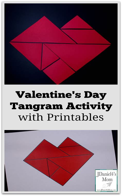printable tangram activity sheets valentine s day tangram activity with printables