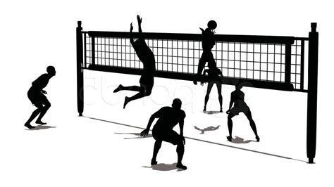 unique court volleyball clipart drawing