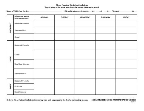 plan worksheet template 15 best images of dinner planning worksheet templates