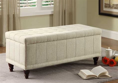 fabric ottoman storage bench homelegance afton lift top storage bench ottoman cream