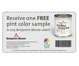 benjamin moore coupon valid for a free pint color sample