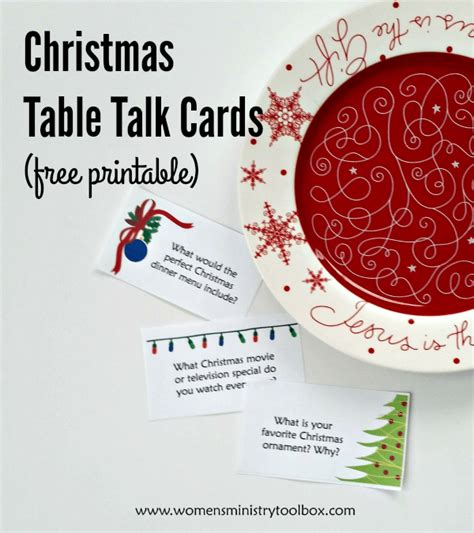 christmas table talk cards free printable women s