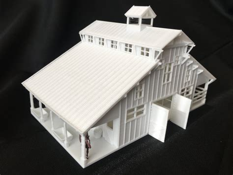 miniature ho scale  west  frontier livery stable barn