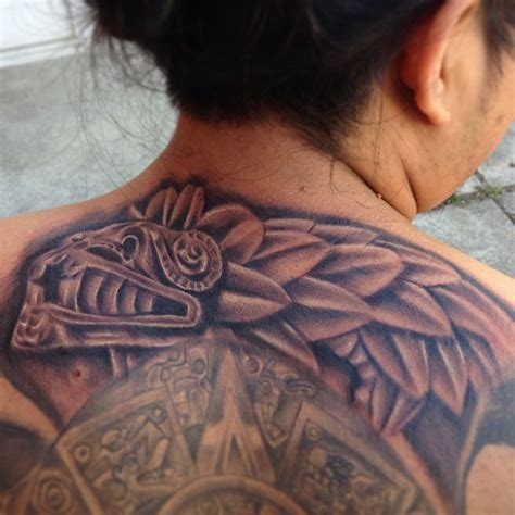 aztec tattoos on back for women tattooshunt com